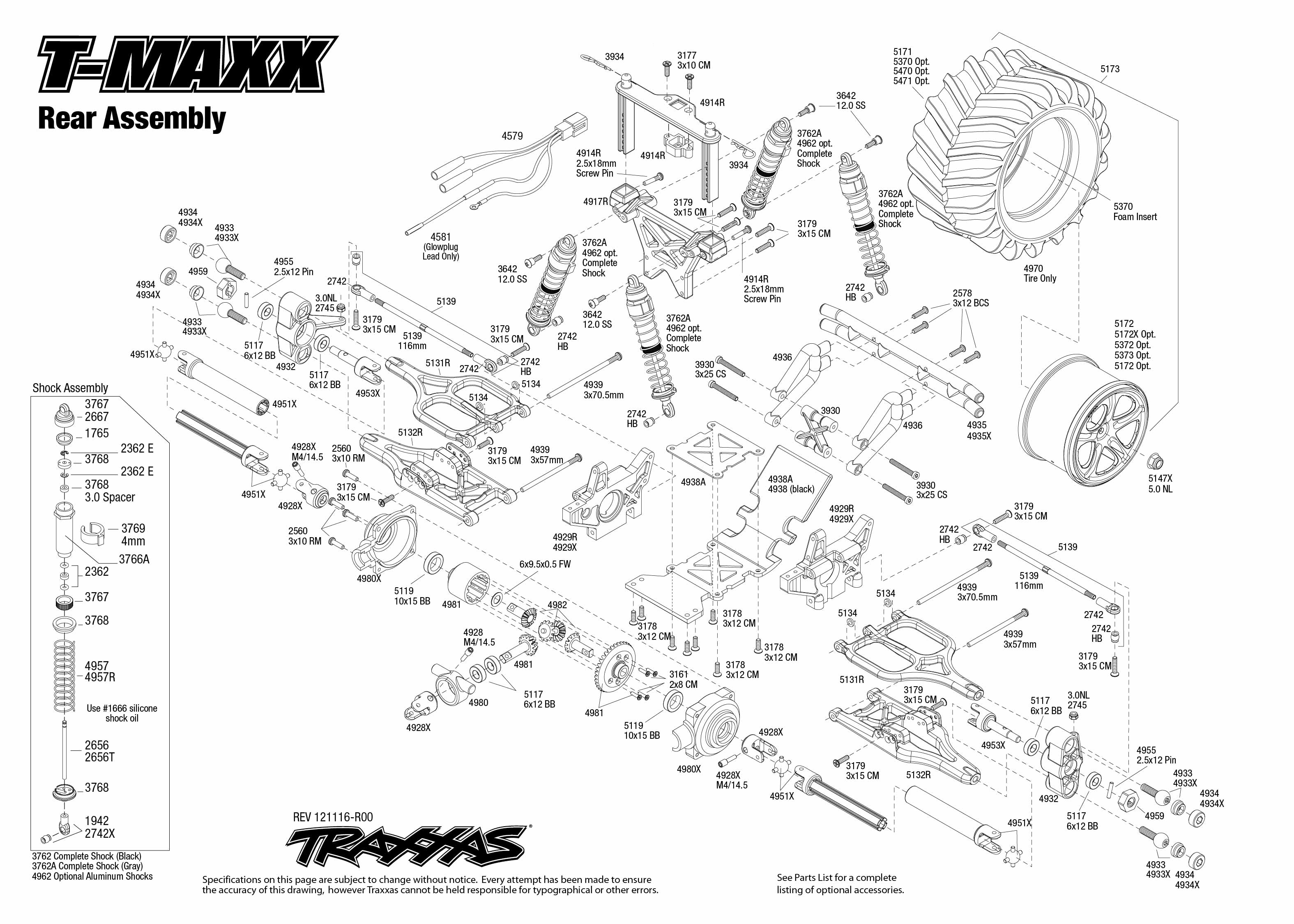 T Maxx Rear Assembly